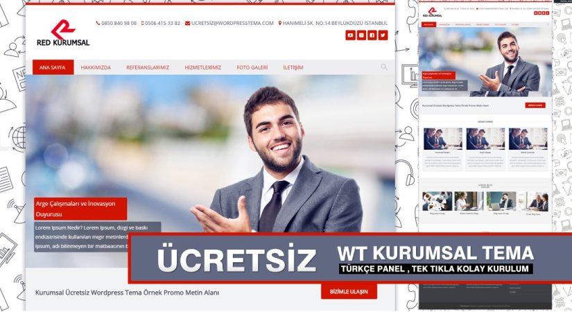Ücretsiz Wordpress Kurumsal Teması –Türkçe